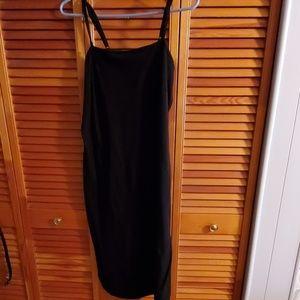 Long ribbed tank dress